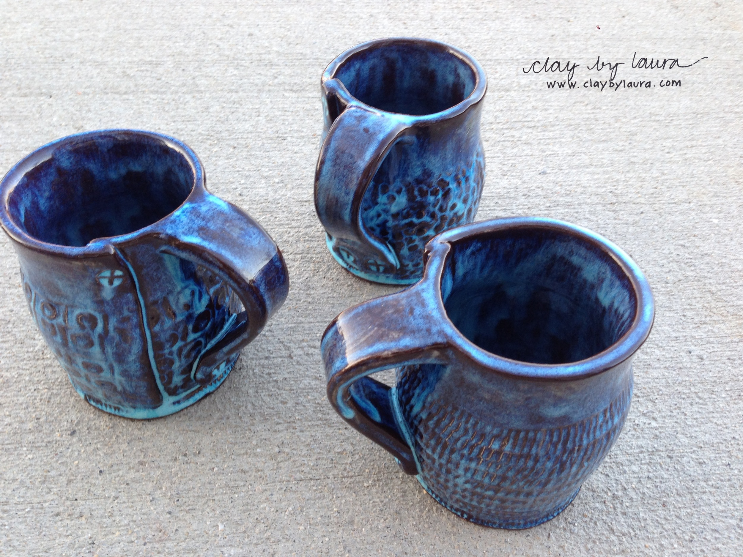The colors and designs of the set of mugs was created specifically for one of my customers.