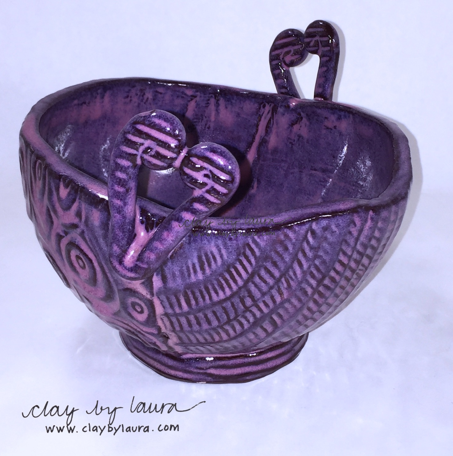 This Yarn Bowl is on its way to Canada to hold the yarn of Karen Collings chosen as the winner of the recent  Yarnbox  giveaway!