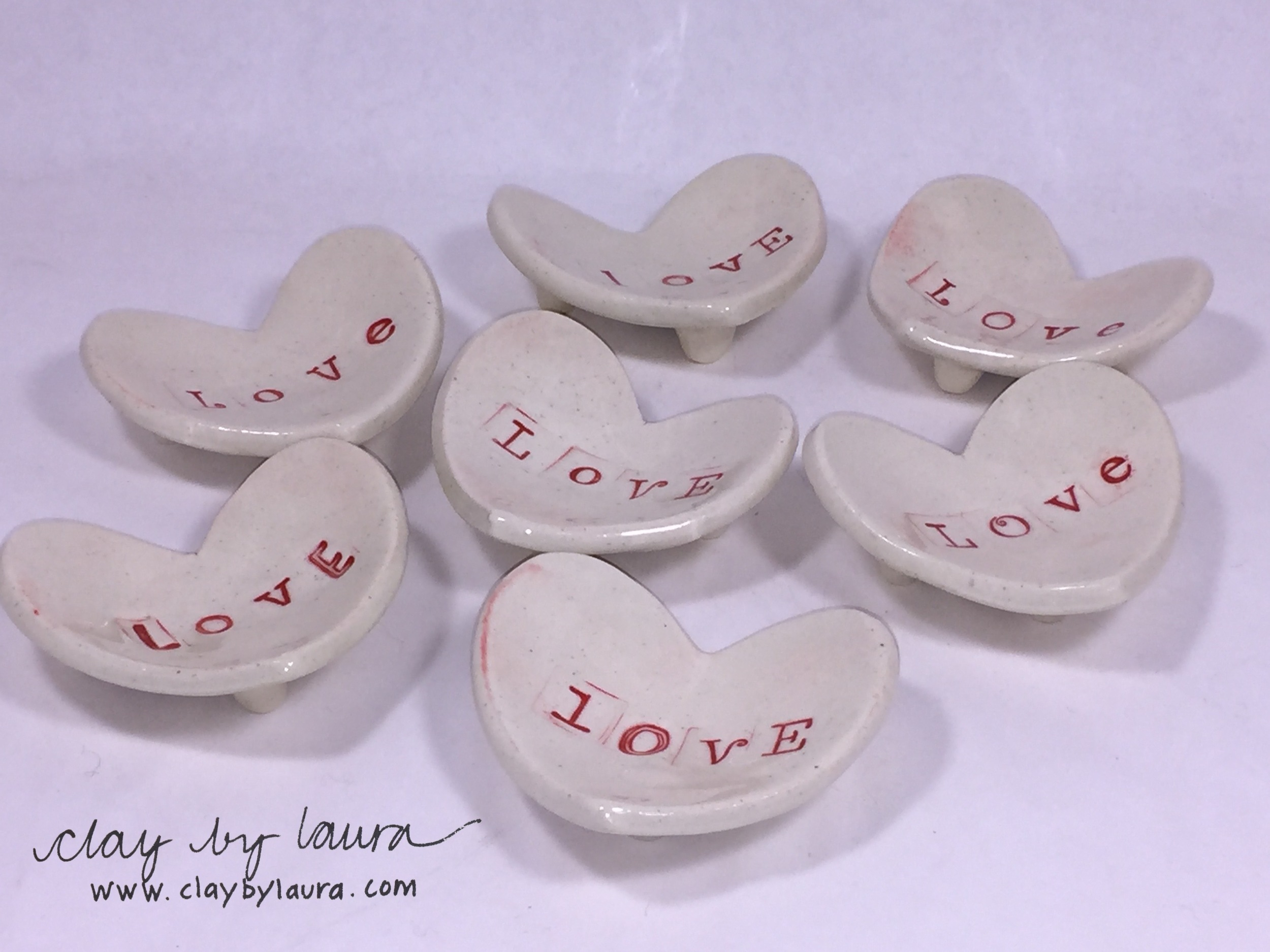 Small heart-shaped dishes can house your treasures or function in the kitchen!