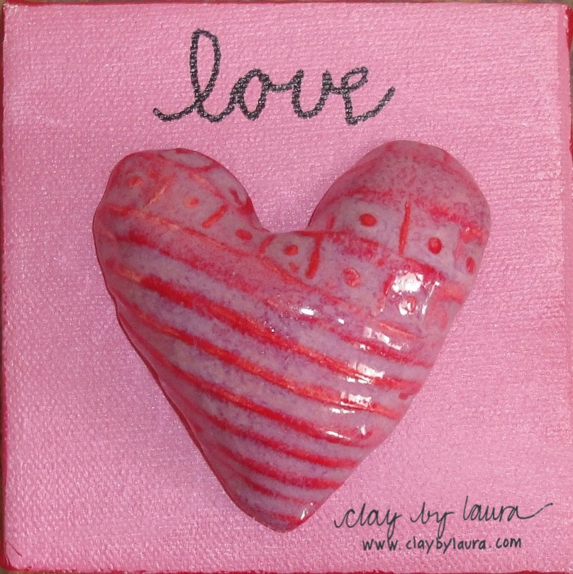 Love Heart on Canvas