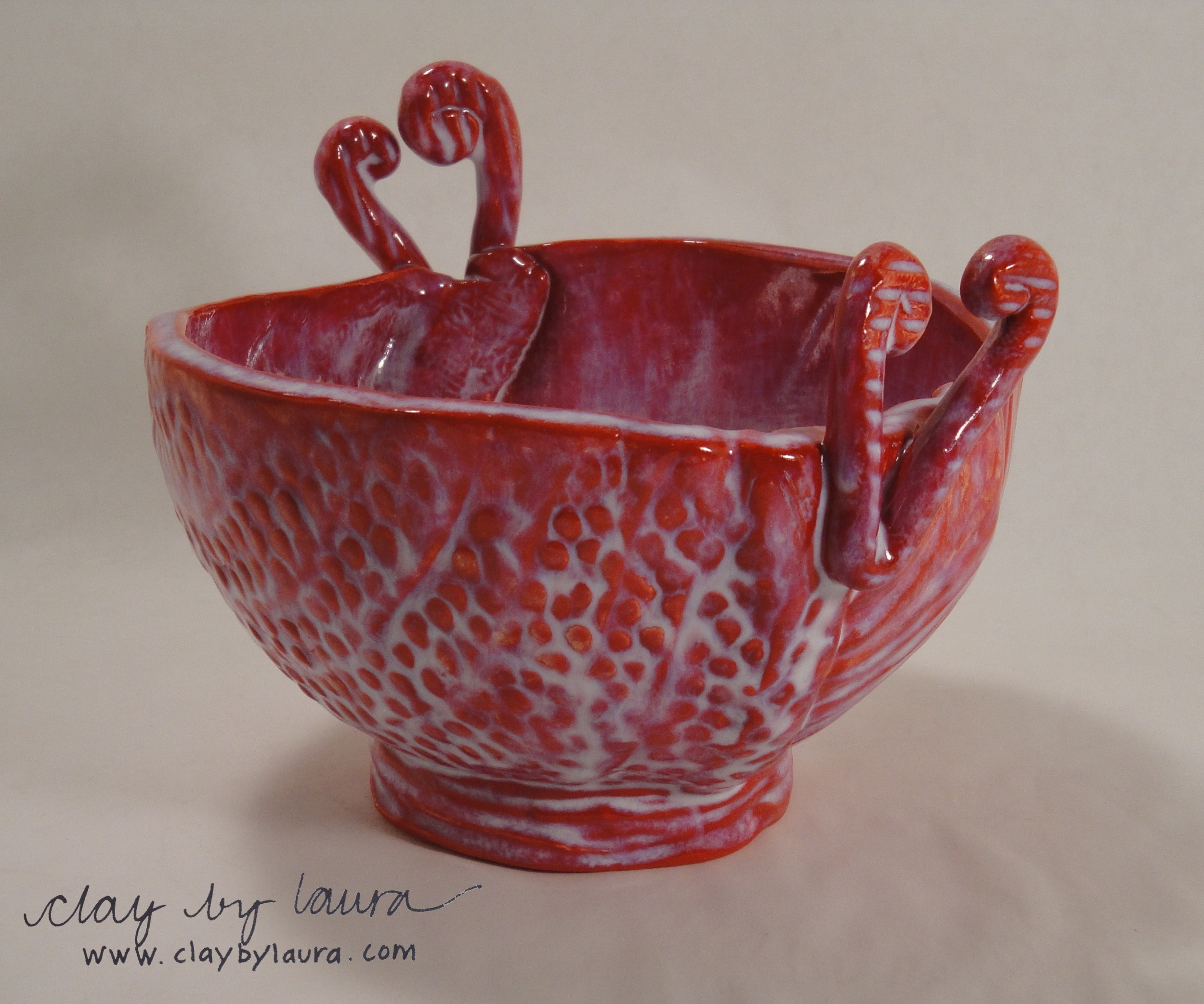 The heart-shaped handle of the Yarn Bowl helps guide the fiber when in use, or simplyprovides a loving symbol for this multi-functional container. $48 will send one of these to a special someone.