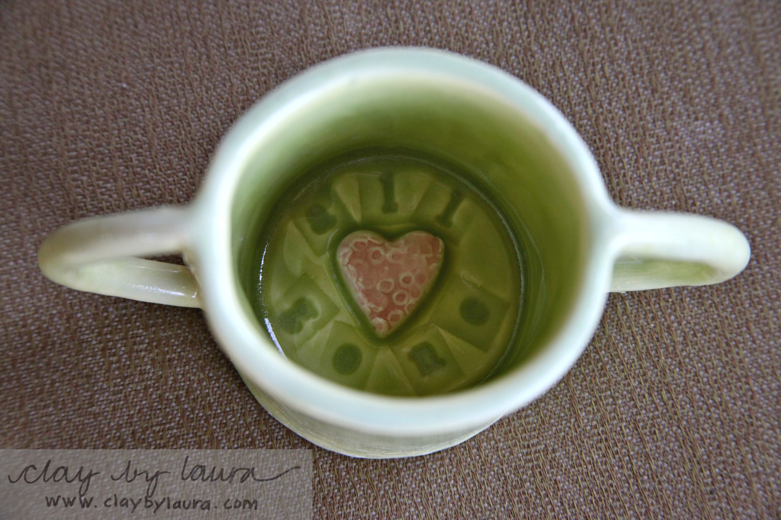 This custom ordertwo-handledchildren's mug was created with a fun message inside.