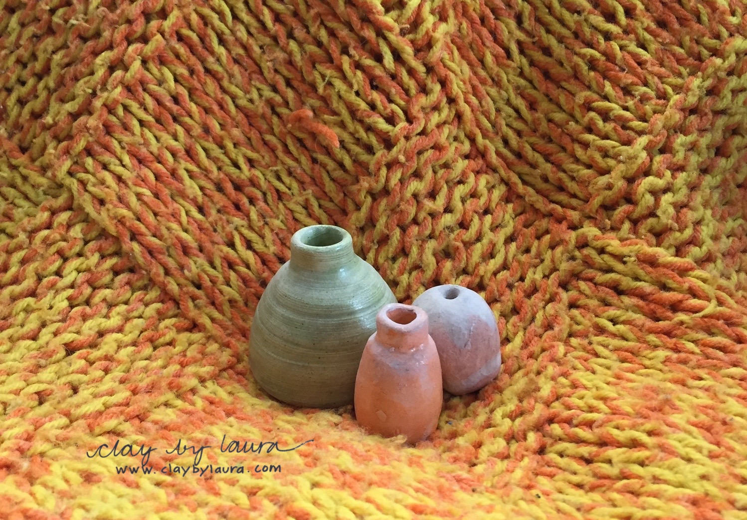 Here are some of my early yarn and clay projects.
