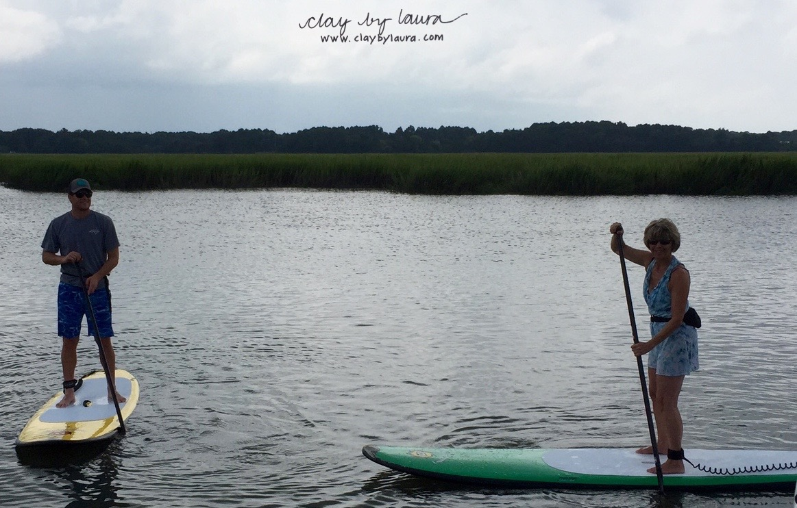 Paddle boarding through the Hilton Head marshes with my son was an opportunity to balance on a number of levels. It was fun, challenging, breathtakingly beautiful and good quality time. And, I didn't fall once!!!