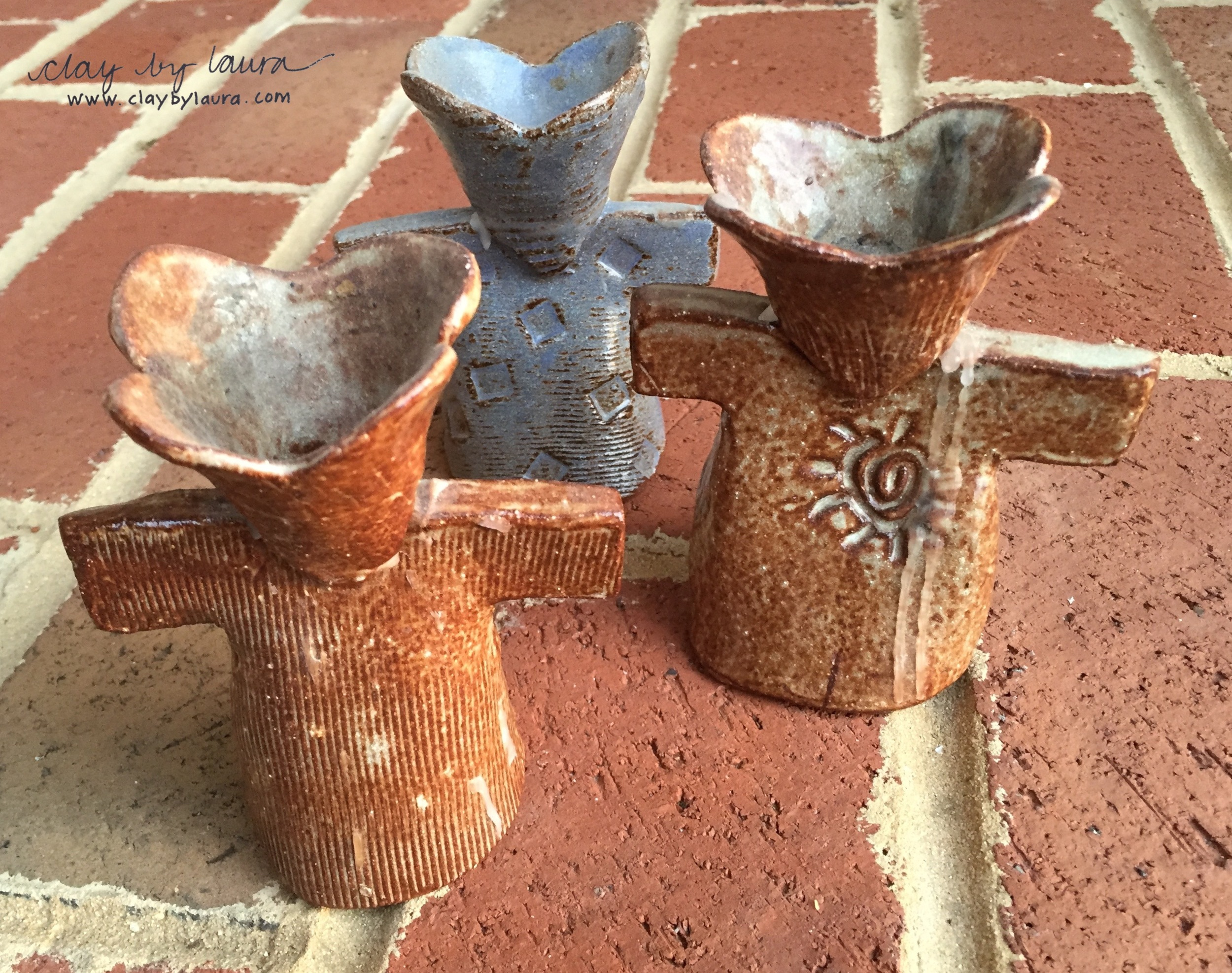 This angel candle holder series shows my love of texture way back when!