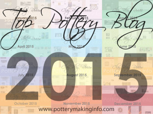 I started writing this blog in February, 2014 as a discipline to record my thoughts and efforts in my Clay Studio and as a way to share them with my friends and customers interested in what I do. Throughout 2015, many of my entries were recognized by   Pottery Making Info   (a fantastic clay resource organization)culminating in my receiving an  Honorable Mention  as a Top Pottery Blog of 2015. If you are a fellow potter or even just interested in good pottery, you'll want to explore the vast variety of clay blogs written and recorded by this resource. Click on the image above to view the Pottery Blogs!