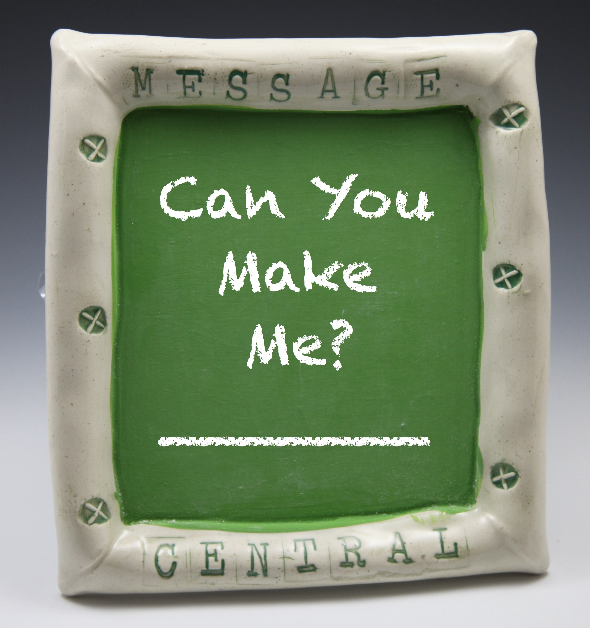 Is there a piece of pottery you'd like me to make? Tell me! Click on the photo above to answer the question.