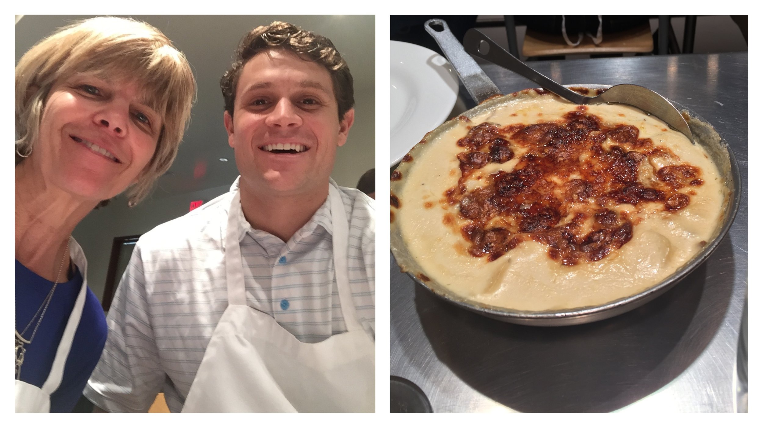 Jordan and I liked this Potato Gratin we made in our cooking class a lot! We'll be adding it to our Thanksgiving table this year. Want the recipe? Read on!