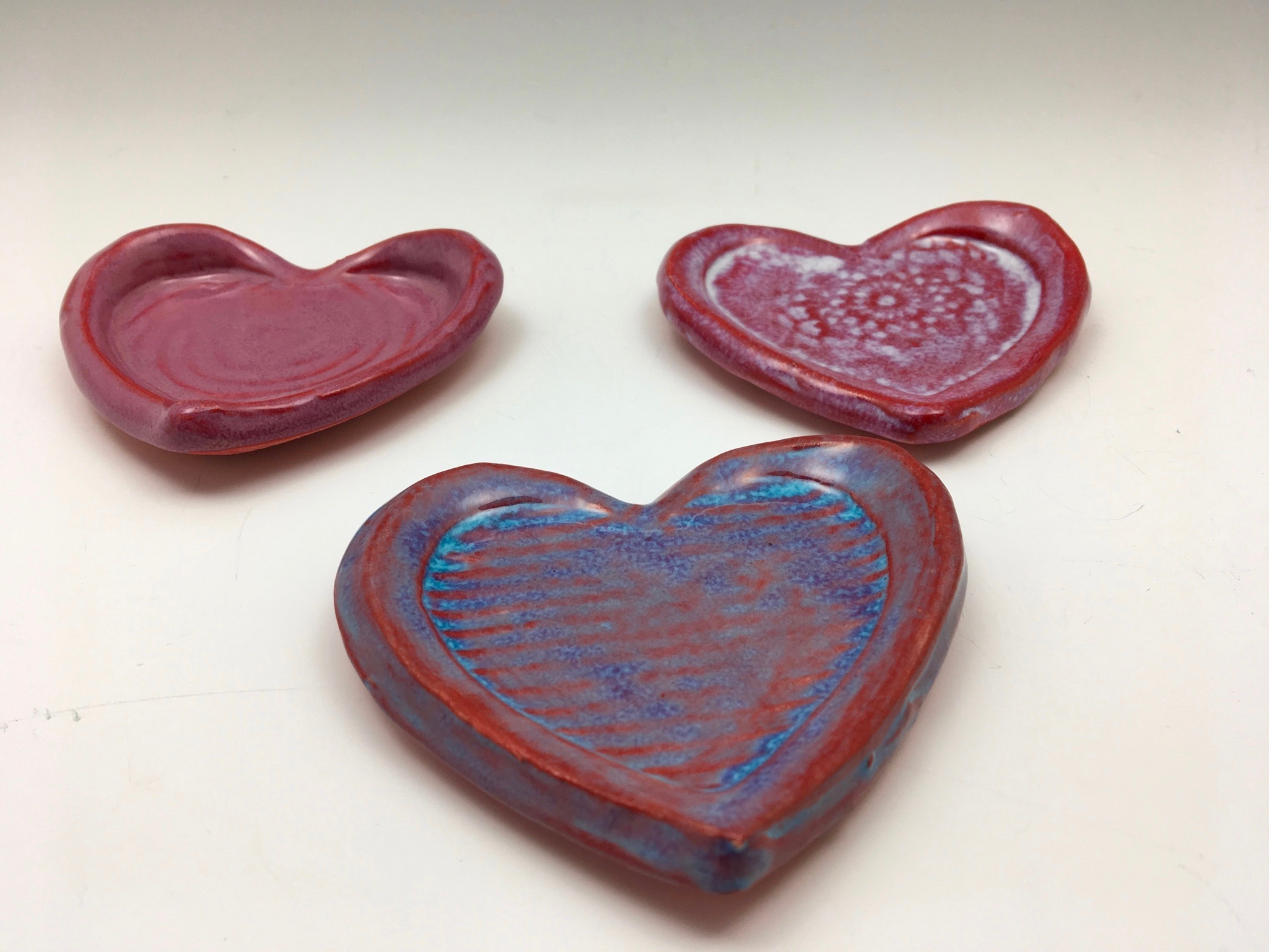 New heart shapes are stacking up in the studio in anticipation of Valentines Day! Reserve one for yourself or a loved-one by clicking on this photo!