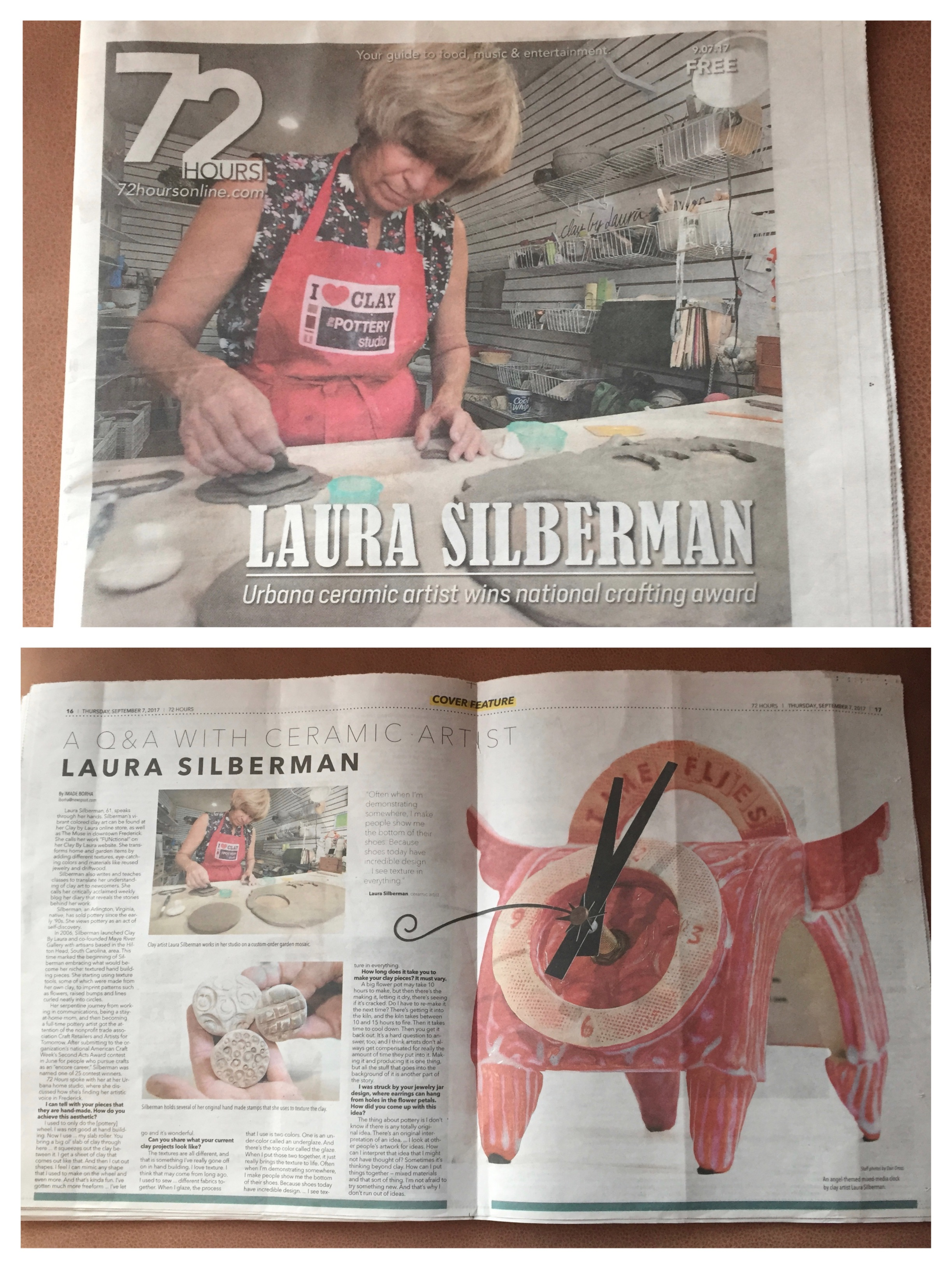 I was interviewed several weeks ago for this local write-up. I'm thrilled with the front page and center-spread coverage I received. You can read the full article by clicking on this photo.