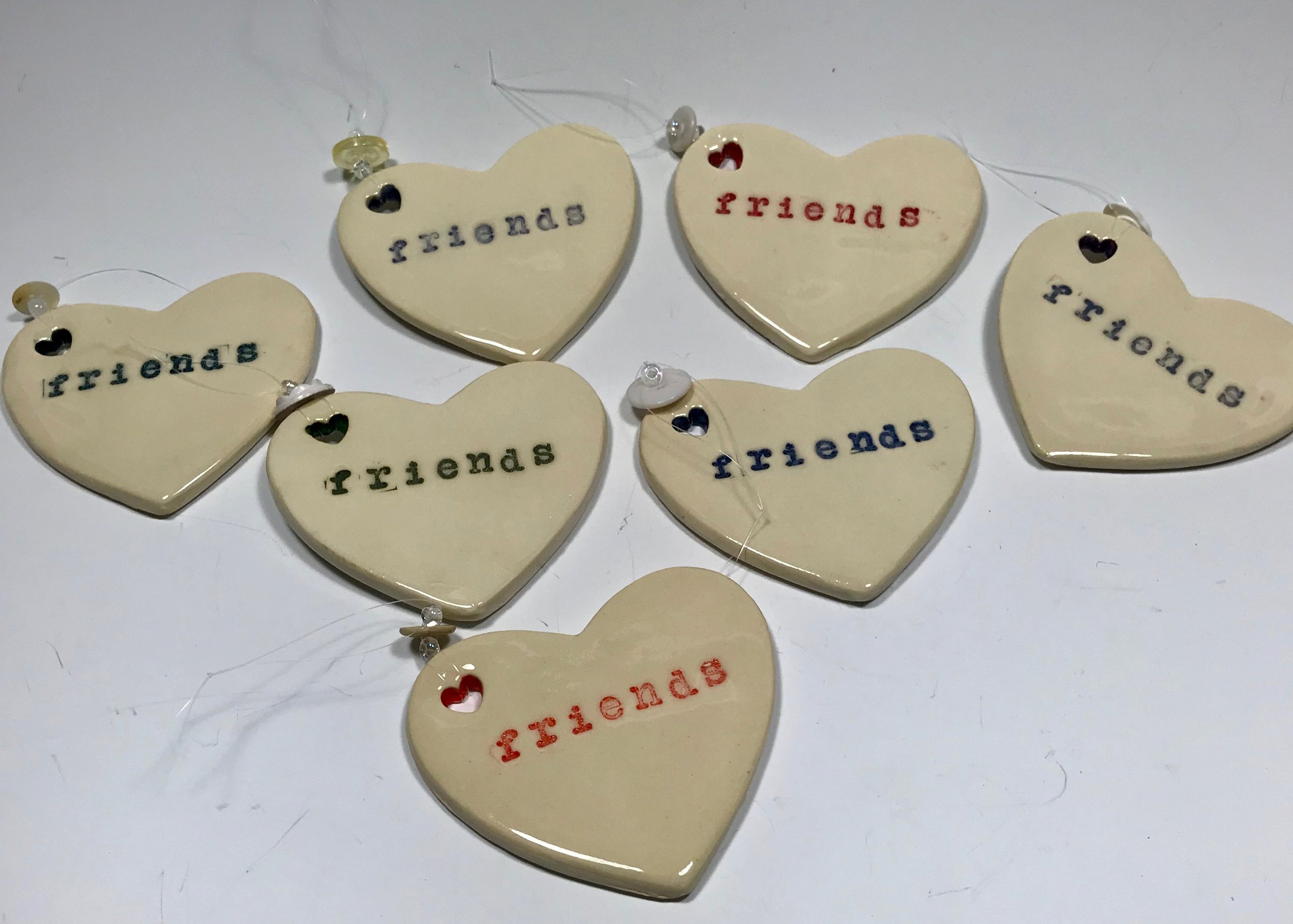Customers often ask me to personalize an order just for them. These holiday ornaments will be gifted to a circle of friends this coming holiday season.