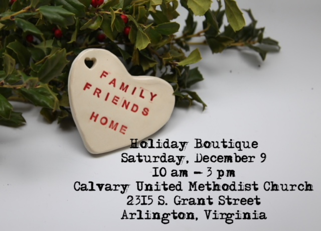 I'll be returning to one of my original communities this Saturday to participate in a fantastic holiday boutique. Calling on all my DC-area 'peeps' to visit me there!