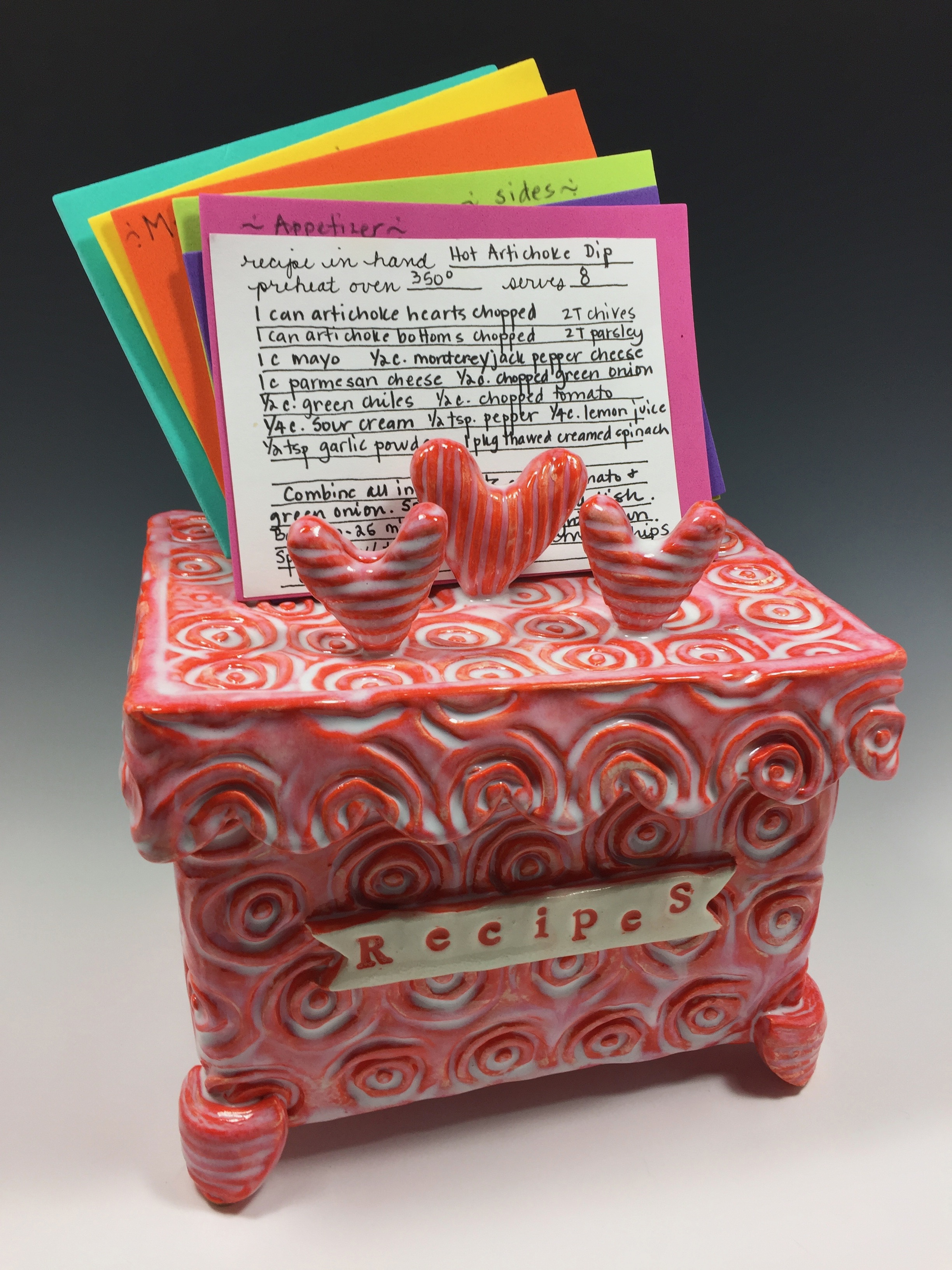 I have a recipe box like this 'in the works' that will be gifted at a wedding shower. Each participant will provide one of their favorite recipes with this present. I bet each time one of those recipes is prepared, it will generate a flood of memories!
