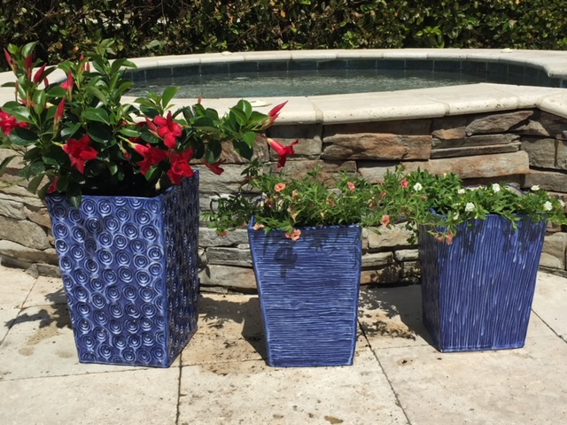 Here's a sign that Spring is on its way. Look how beautiful these containers look with their colorful abundance of flowers!
