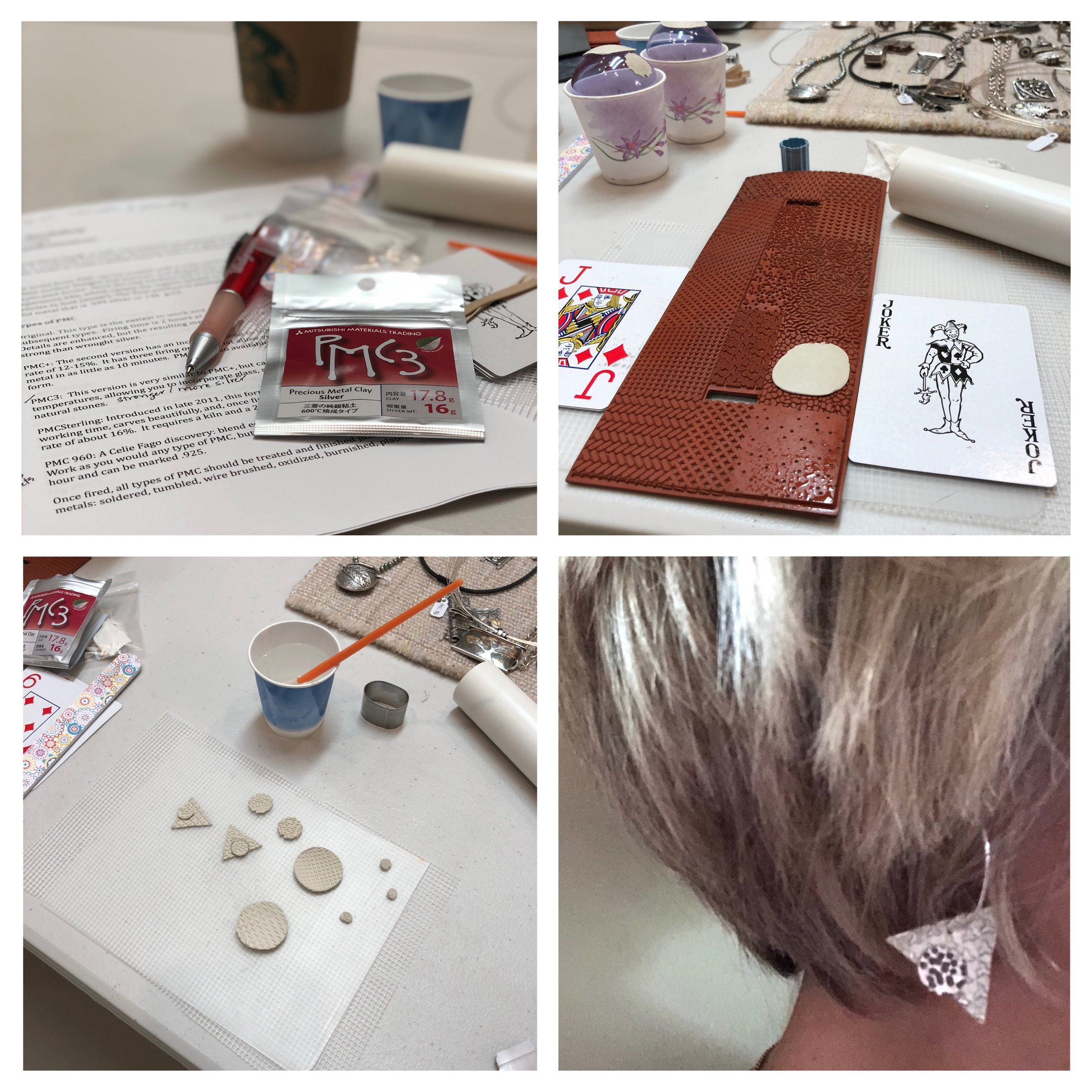 I gifted myself another clay-class experience recently. In this workshop, we used a material called PMC (precious metal clay) to create silver (yes real silver) jewelry. Boy was it fun! Sometimes the best gifts are the ones we give ourselves!