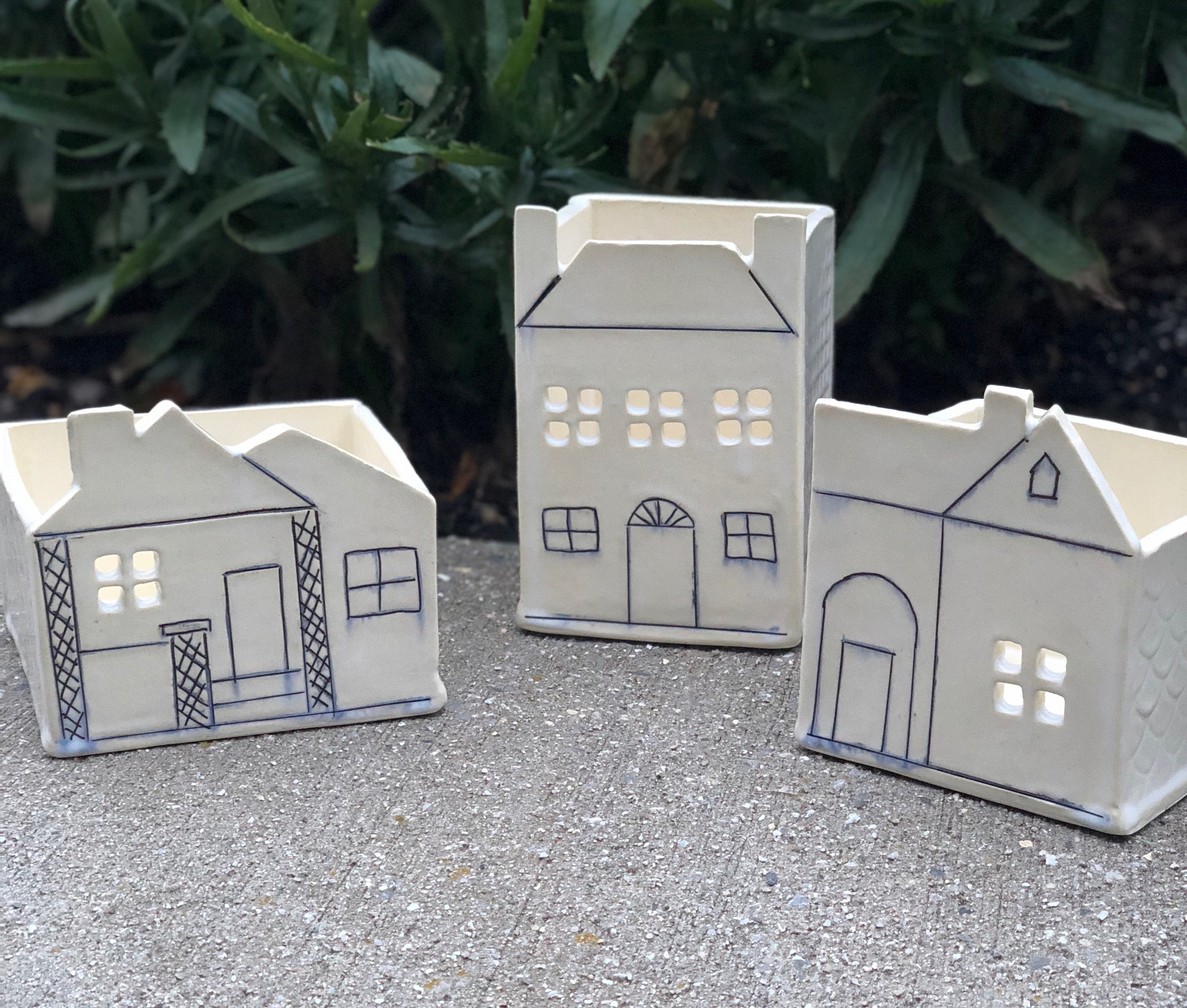 This little village of Historic Huntsville Homes are part of a custom collaboration I've created for Harrison Brothers Hardware in support of the Historic Huntsville Foundation.