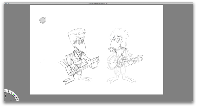 Sketching digitally in Sketchbook Pro. My preferred tool of choice for sketching on screen.