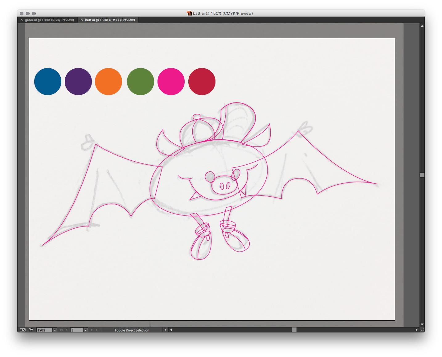 Shapes drawn in Illustrator.