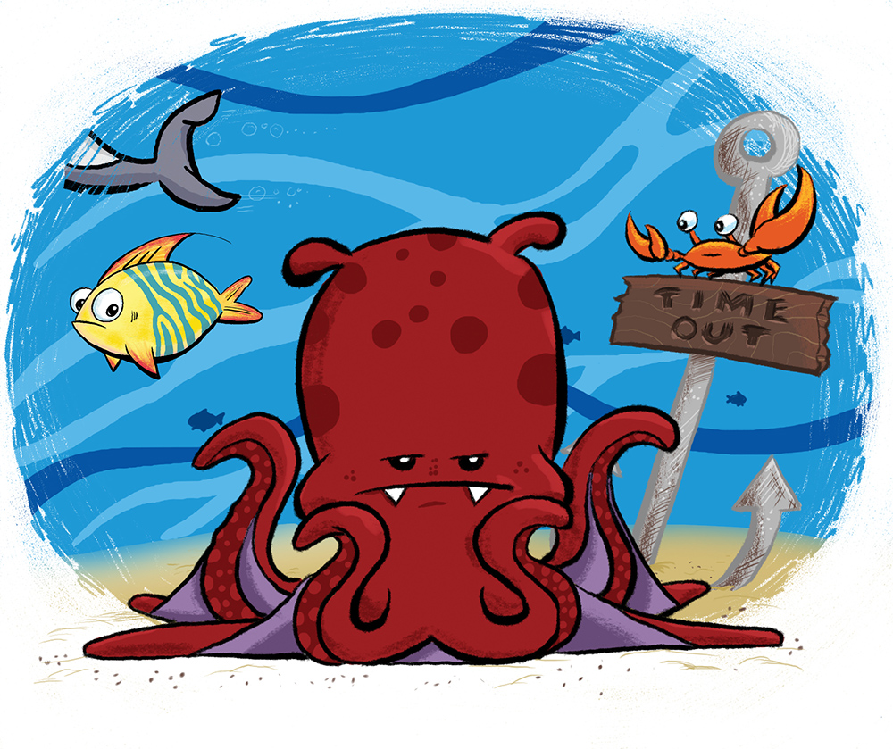 Vampire Squid in Time Out foiled again by Secret Agent Shark by Scott Soeder