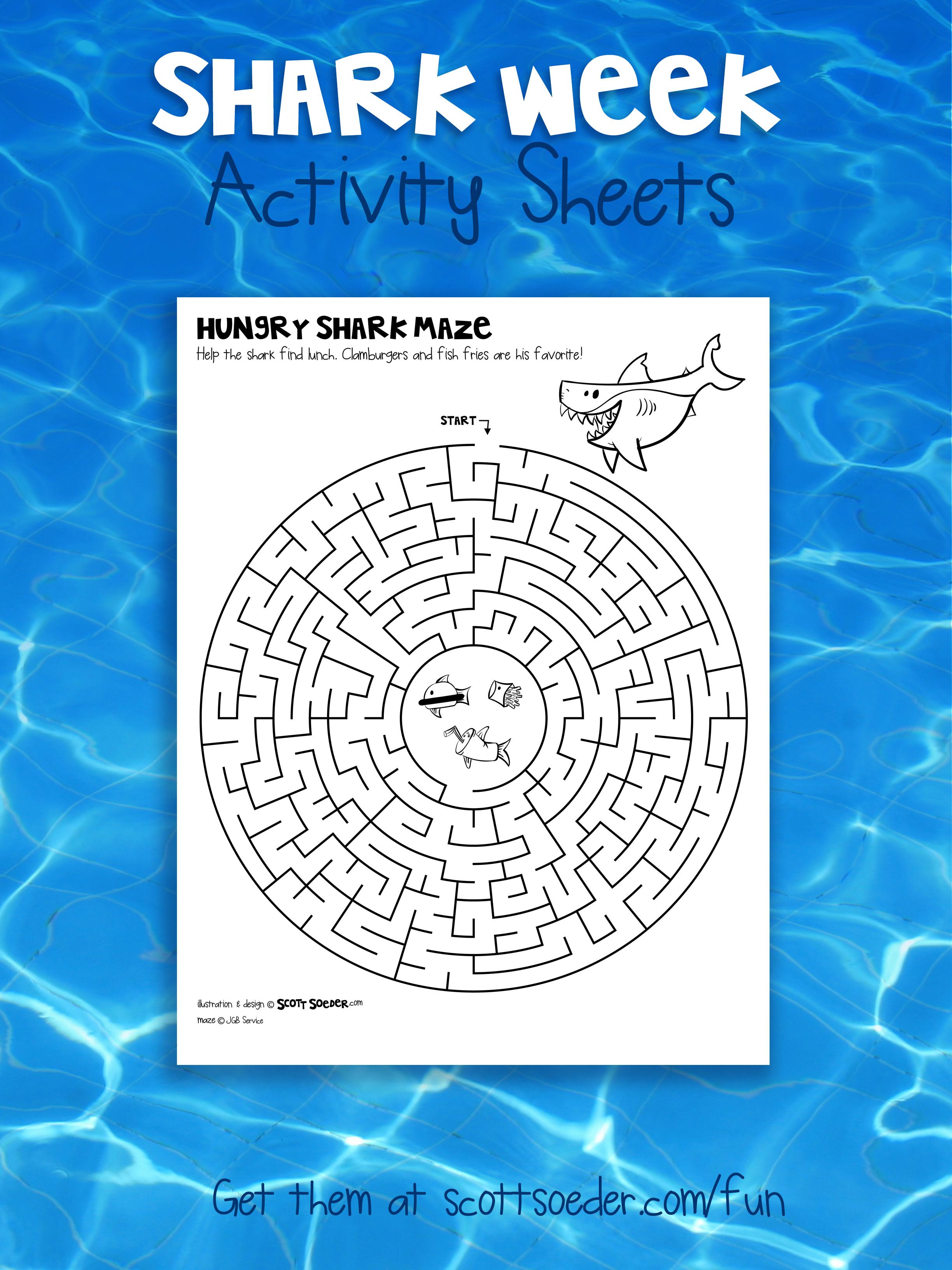 Shark Week Maze Activity Sheet