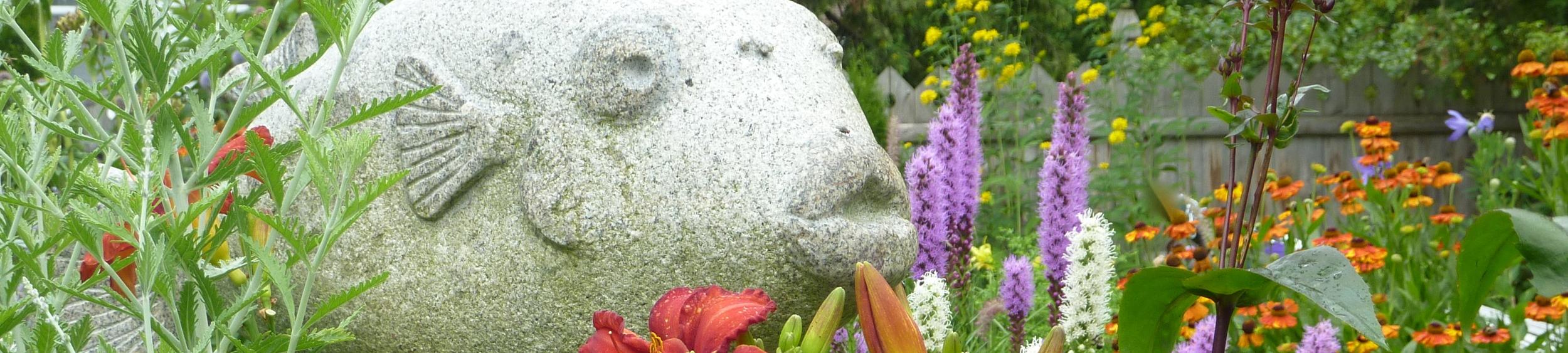 Pufferfish sculpture by Thomas Berger, Green Art, Kittery, ME