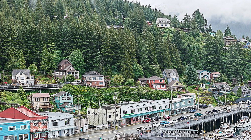 One of my favorite towns in Alaska was Ketchikan. This is a cute image of a quaint town. There were abundant eagles around Ketchikan, the number of eagles reminded me of the number of robins we have in northern Utah. I would perfer the eagles.