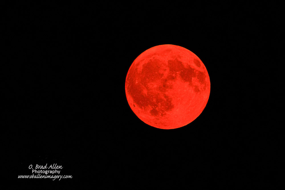 We have had many fires in the west lately and as a result the moon turned this beautiful red color. I could not turn the opportunity down to photograph this rare event.