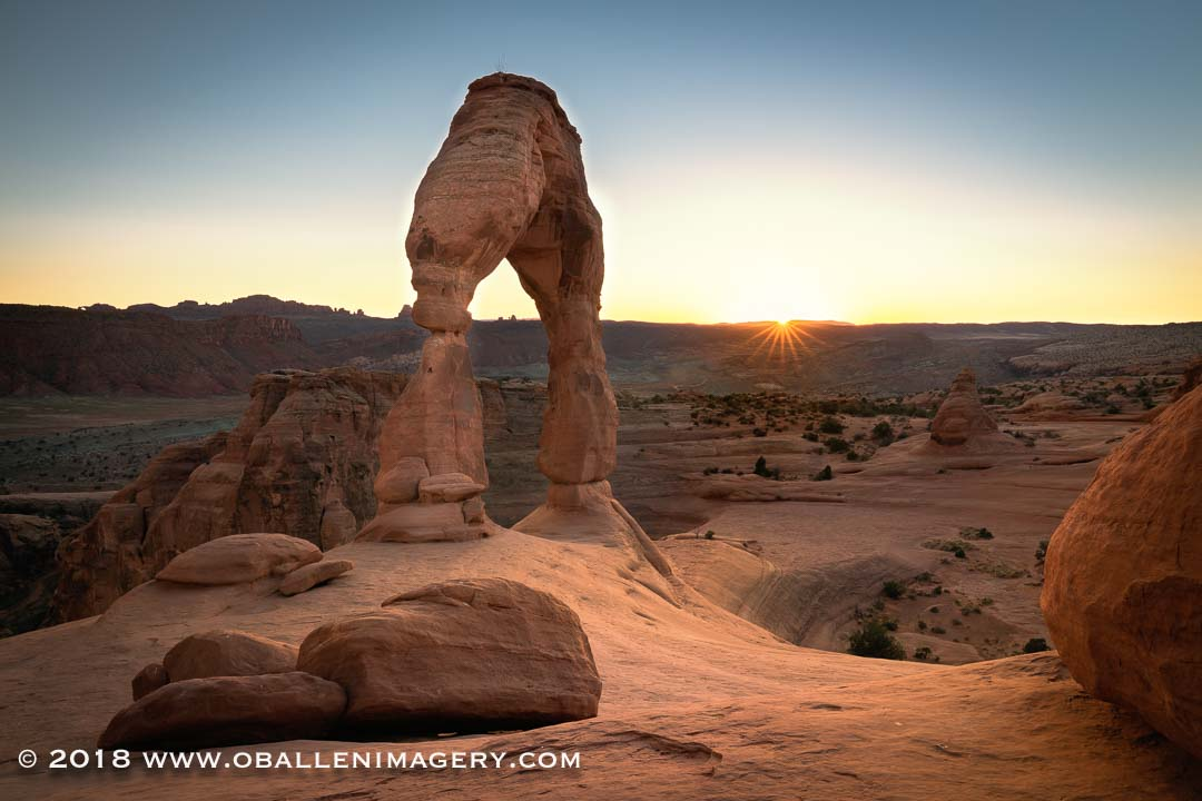 Delicate Arch in the evening.