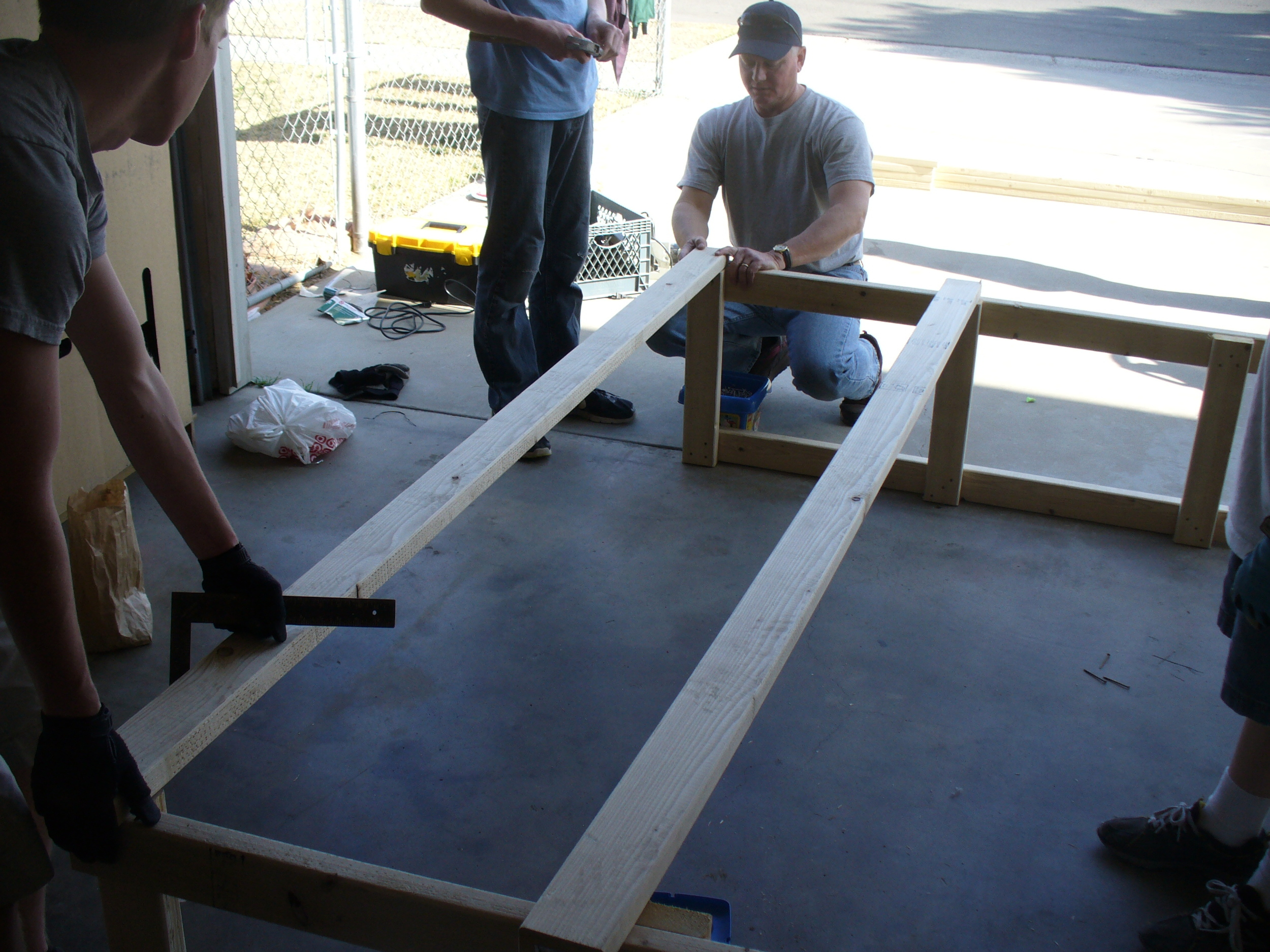 Eagle Scout project to build storage for the women's shelter.