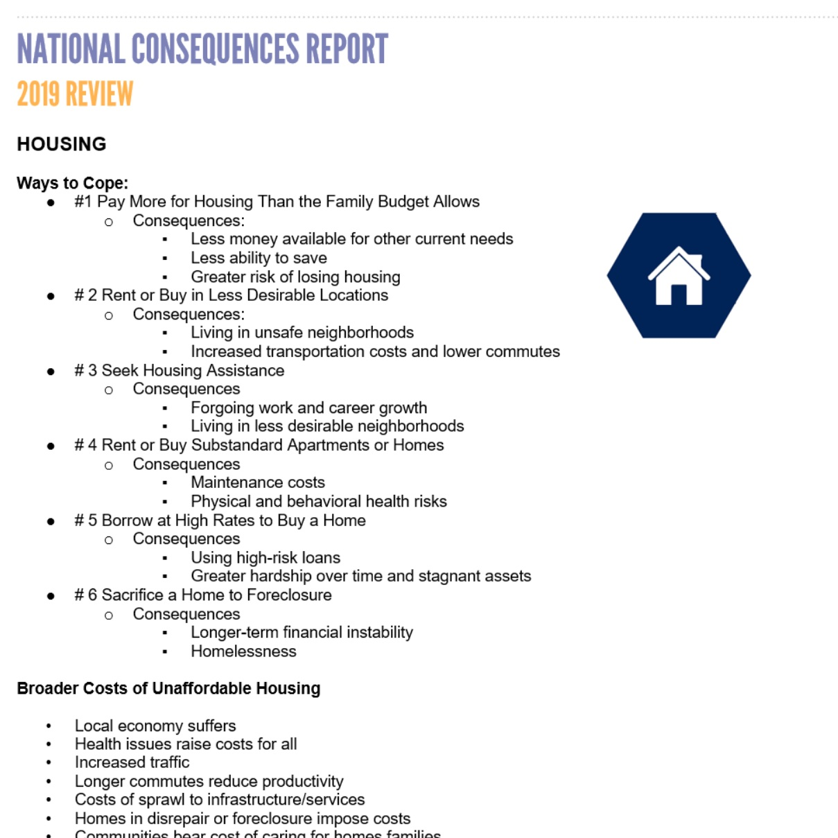 NATIONAL CONSEQUENCES REPORT REVIEW -