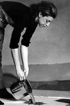 Helen Frankentahler in her studio, 1966