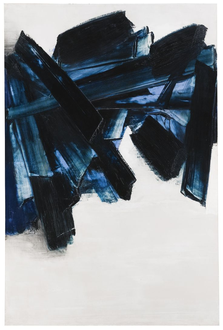 Pierre Soulages, Untitled 1959 as seen at Phillips