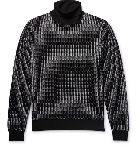 Berluti - Textured Knit Rollneck from MR PORTER