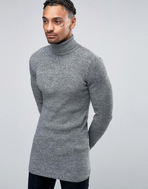 Muscle Fit Roll Neck from ASOS