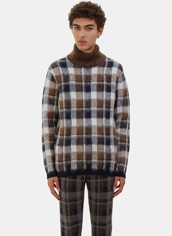 Fendi Checked turtleneck LN-CC
