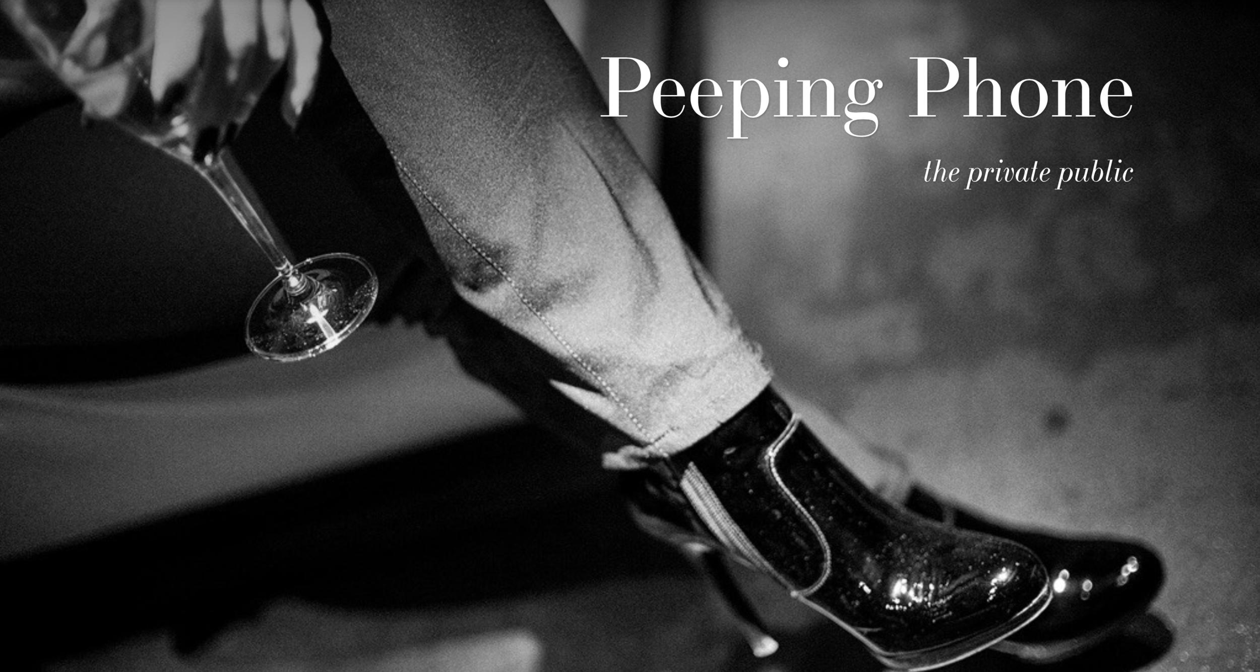PEEPING PHONE - by Eric Berger