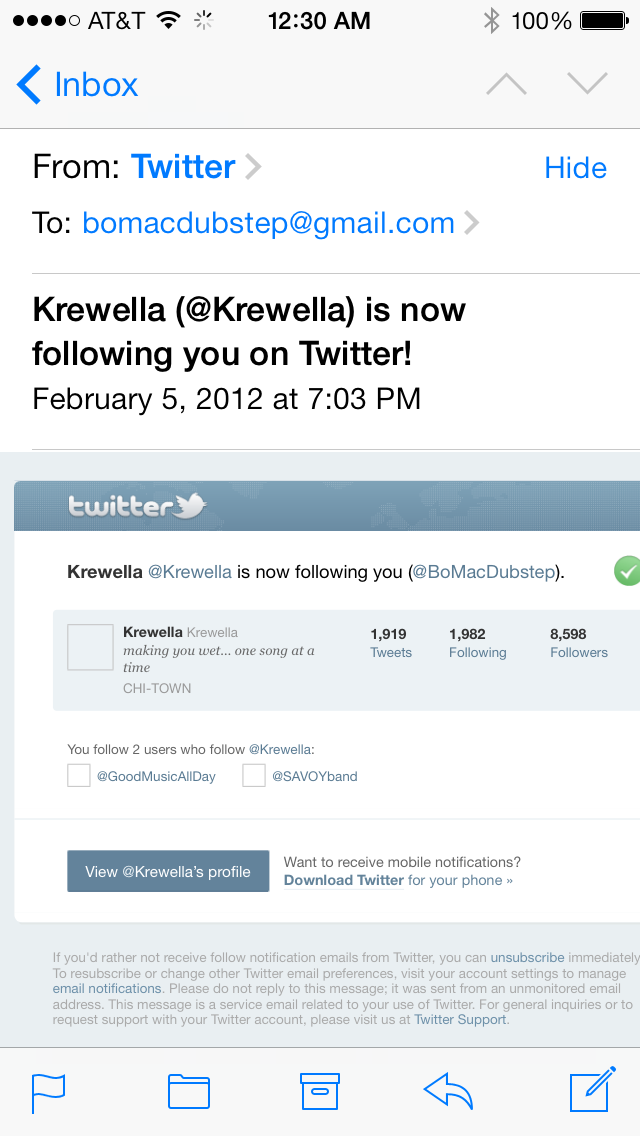 I remixed one of Krewella's songs and put it on the internet. Instead of suing me, they followed me. - Today, they have 652K followers.
