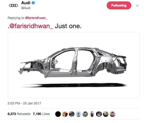 Most Retweeted Audi Tweet Ever -