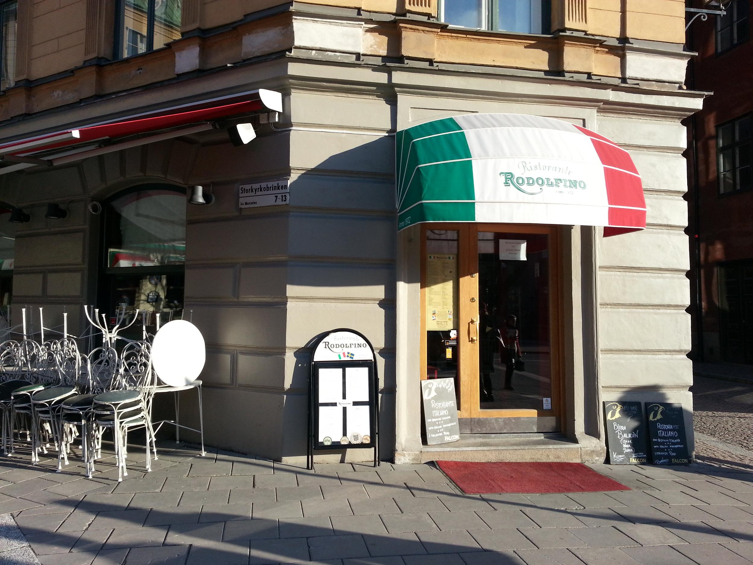 Ristorante Rodolfino, Italian restaurant in Gamla Stan with fantastic food!