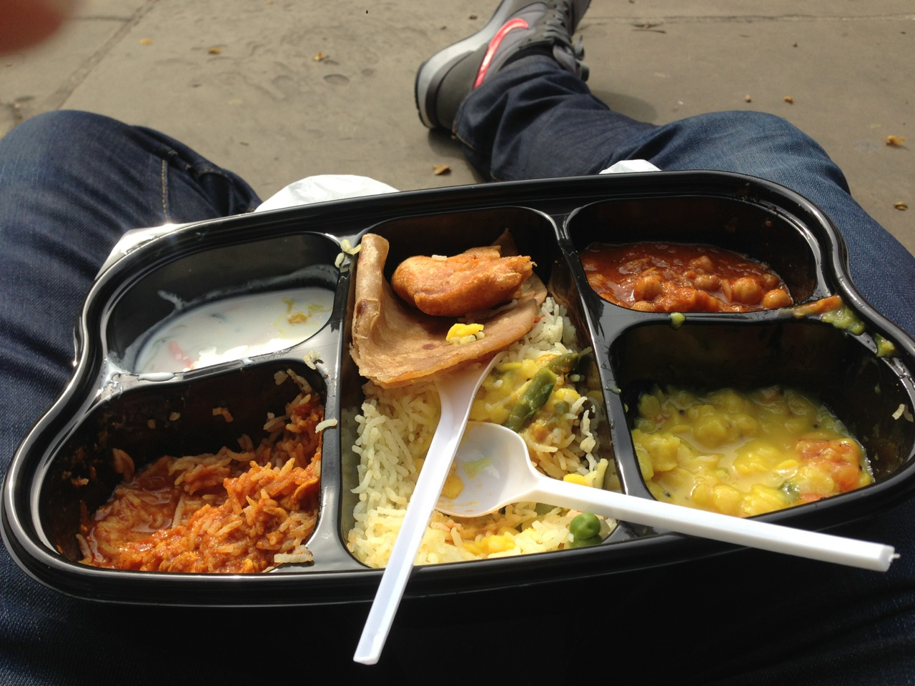 Street lunch in London