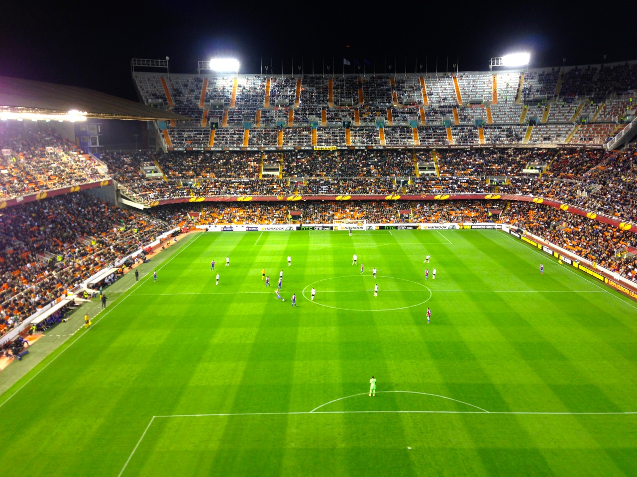 First live football match of my life, Mestalla stadium, Valencia