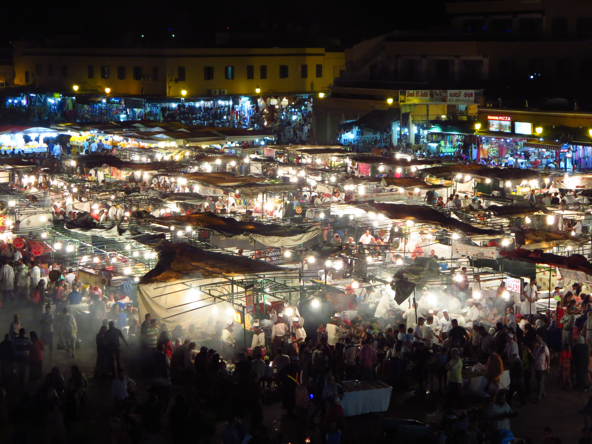 Jemaa el-Fnaa, Marrakesh by night