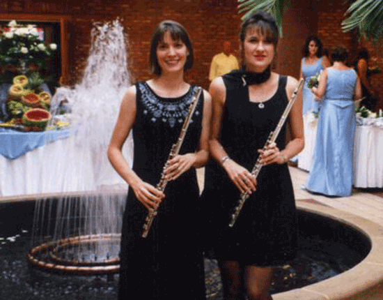 Flute duo at reception