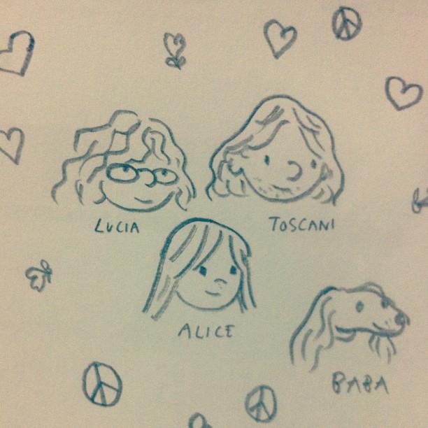 Portrait of Lucia, Tosca, Alice & Baba.