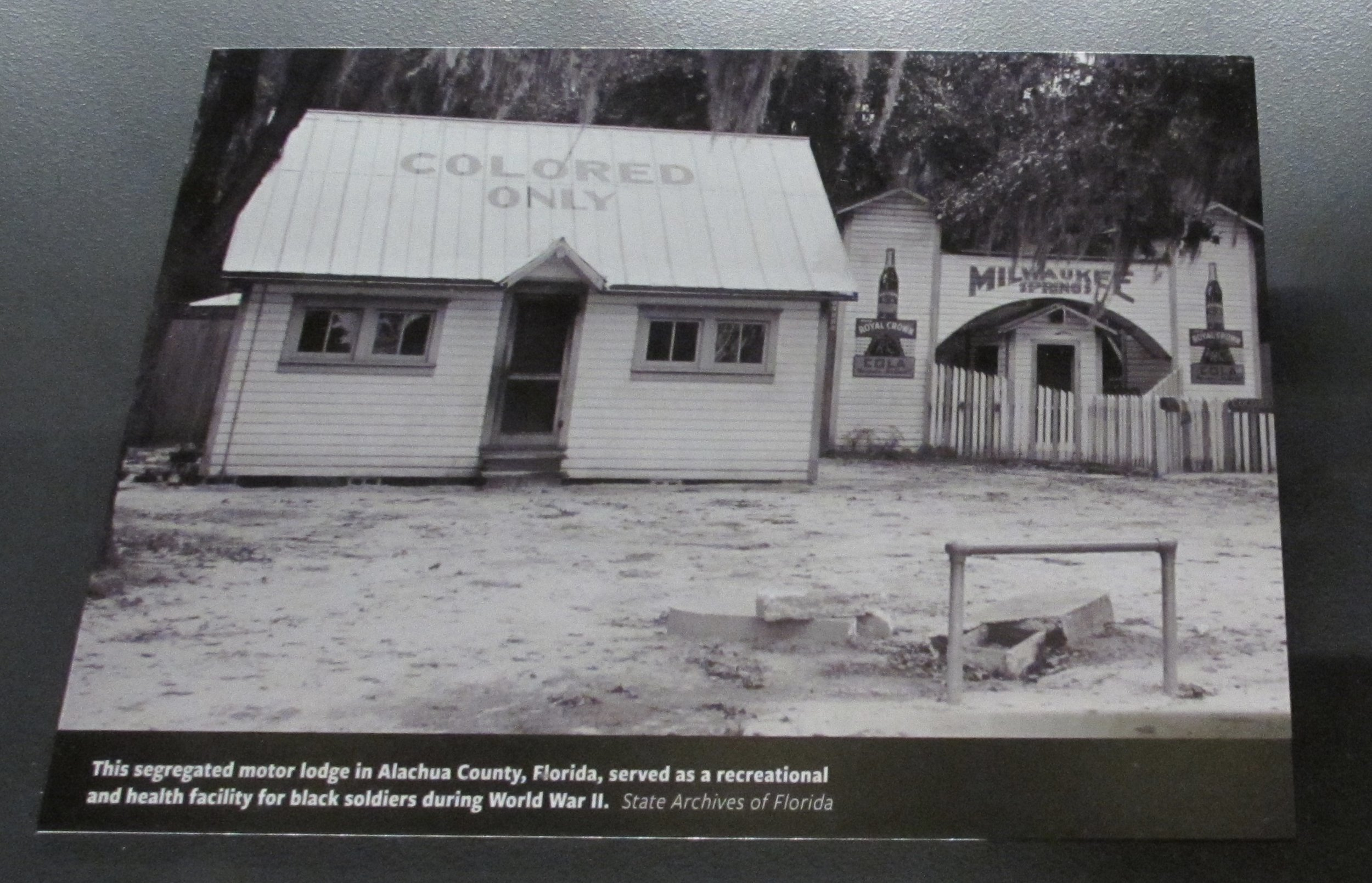 """""""This segregated motor lodge ... served as a recreational and health facility for black soldiers during World War II."""""""