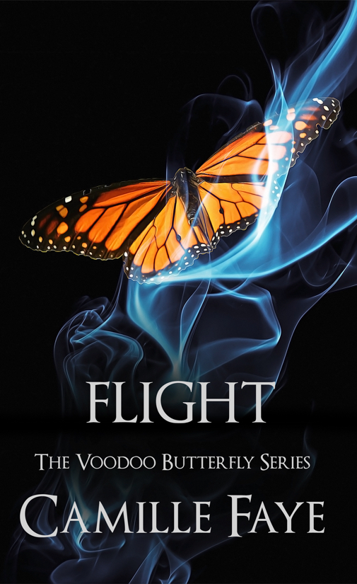 Flight - Sophie Nouveau ventures to faraway Malaysia to seek answers about why her true love, Taj, broke up with her and returned to his homeland. When she gets there, she realizes something has been haunting Taj's kid brother. But is it mental illness or black magic?While Sophie's a world away, a customer claims she is poisoned by a potion from Seraphina's House of Voodoo. As a result, the FDA shuts down Sophie's shop pending an investigation into the incident. So she rushes back to New Orleans only to realize a traitor is at the root of all this bad mojo. That person, who's in cahoots with Dr. Bones, wants to usurp the title of Voodoo Queen from the Papillon family line forever.
