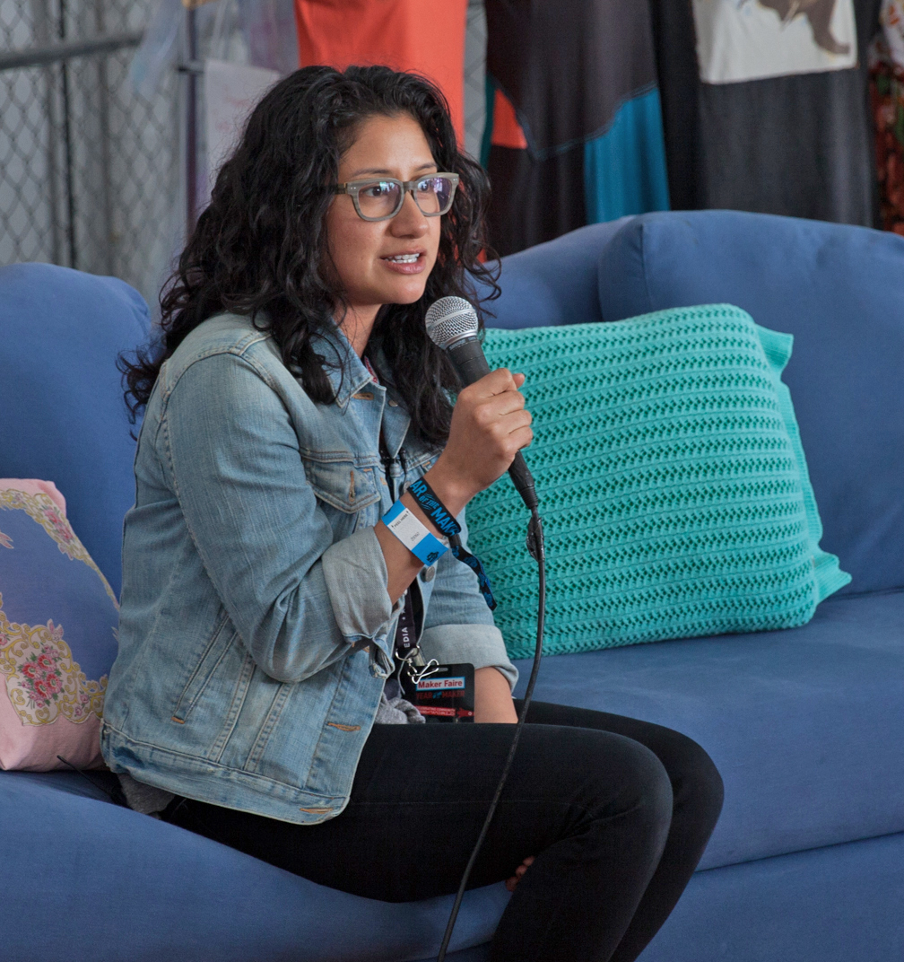 Speaking at the Textiles Lounge at Maker Faire 2014