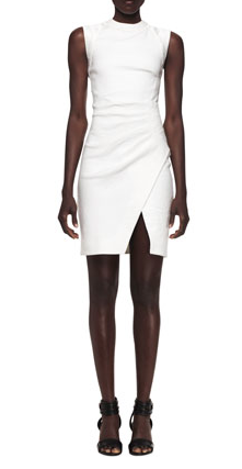 Sleeveless Dress with Pleated Side, L'Agence. $315 at  A Line Boutique .
