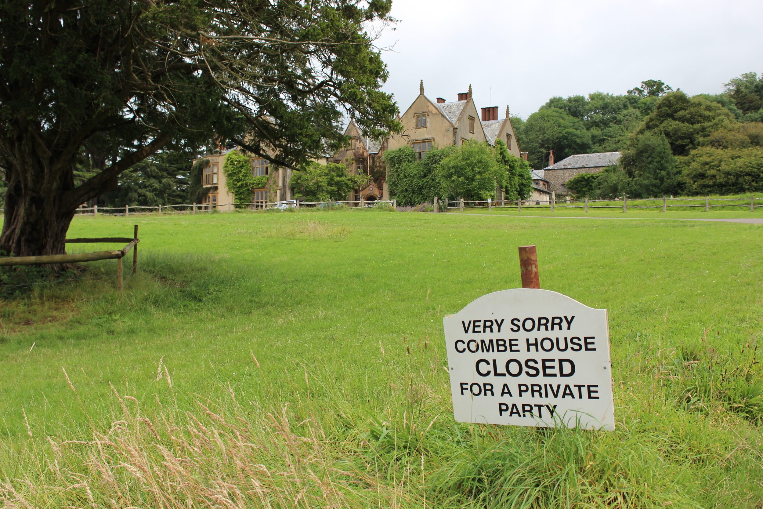 Combe House was open only for guests of the wedding.