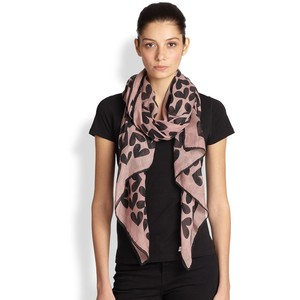 Saint Laurent Abstract Hearts scarf - $795 at  Saks.com